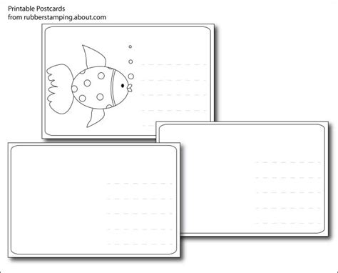 Postcard Template Free Printable And 39 S 25 Best Ideas About Make Your Own Postcard On