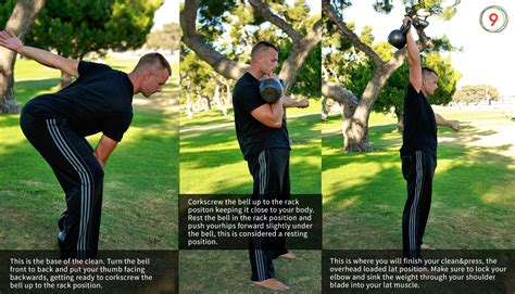 kettlebell clean press position movements basic workouts bell instruction