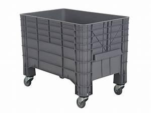 Box Mit Rollen : mini box palettenbox 1040 x 640 mm auf rollen transoplast gmbh ~ Markanthonyermac.com Haus und Dekorationen
