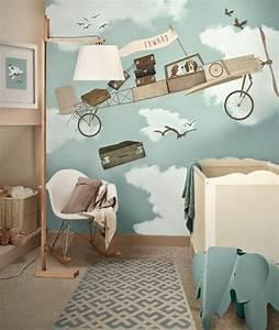 Idée Déco Chambre Bébé Garçon : deco chambre garcon lit mezzanine ~ Nature-et-papiers.com Idées de Décoration