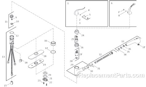 Kohler Coralais Kitchen Faucet Diagram by Kohler K 15160 Parts List And Diagram Ereplacementparts
