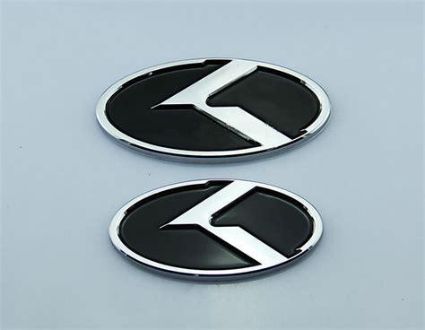 New Car Emblem by 2pcs New Car K Logo Kia Front Rear Emblem Badge Sticker