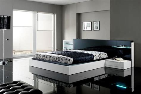 House Designs Black And White Contemporary Modern Bedroom