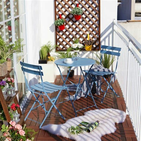 turquoise home accents balcony chair and table design ideas for outdoors