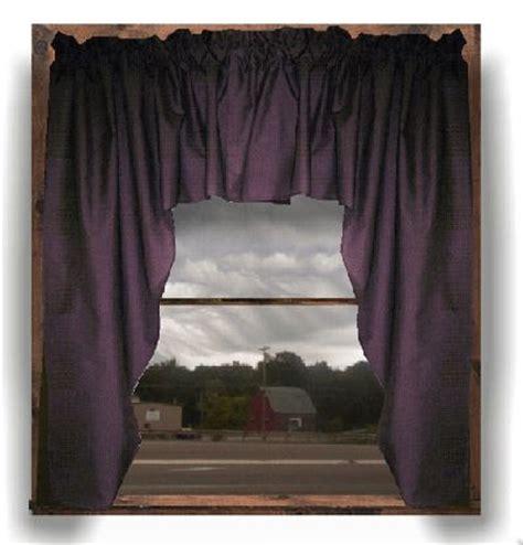 eggplant purple swag window valance set   purple