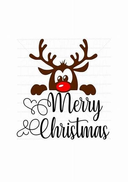Svg Christmas Merry Reindeer