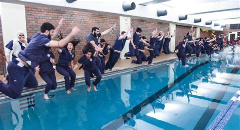 senior class pool jump college  nursing