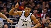 Giannis Antetokounmpo of Milwaukee Bucks on cover for NBA 2K19 game