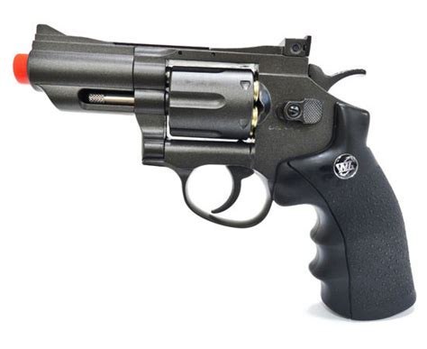 wingun 708 snub nose black fps 480 co2 airsoft revolver