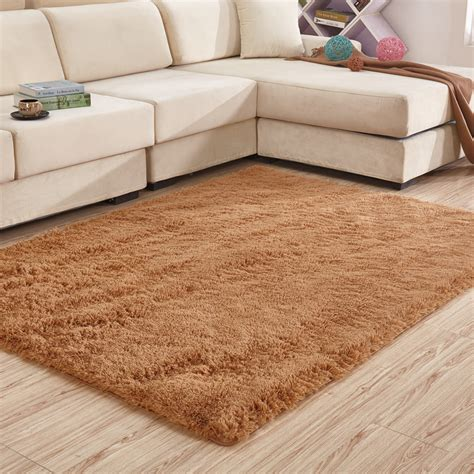 Carpet As Area Rug by 200 300cm Large Solid Shaggy Carpet Soft Plush Rugs And