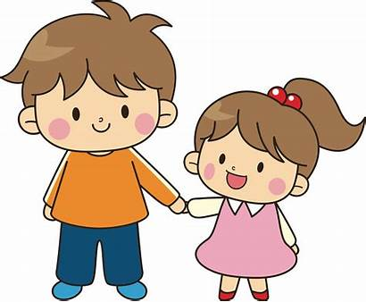 Brother Cartoon Clipart Sister Older Younger Transparent