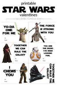 Star Wars Printable Valentine's Day Cards