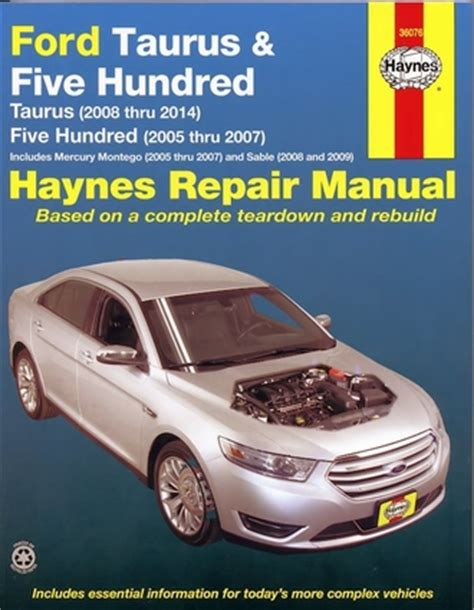 best auto repair manual 1995 ford taurus on board diagnostic system ford taurus repair manual 2005 2014 five hundred sable