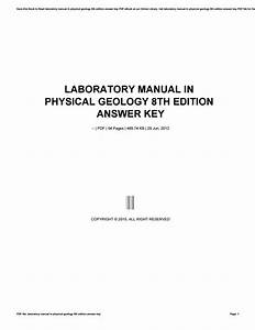 Laboratory Manual In Physical Geology 8th Edition Answer