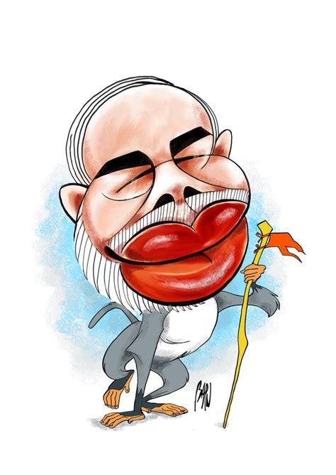 narendra modi  caricatures toons