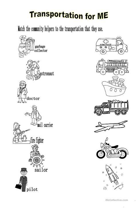 Transportation For Me Worksheet  Free Esl Printable Worksheets Made By Teachers