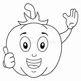 Vegetable Coloring Pepper Character sketch template