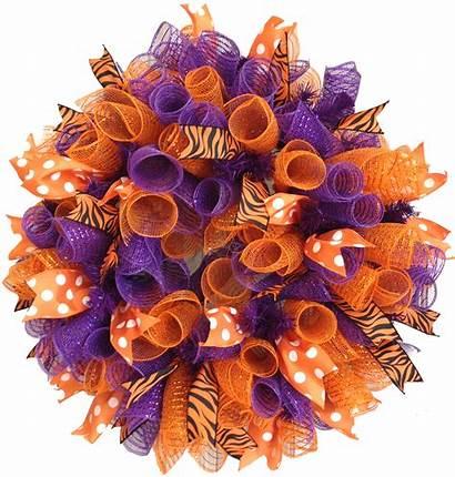 Mesh Wreaths Wreath Deco Curly Fall Ribbon