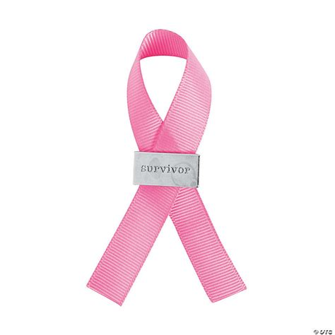 Pink Survivor Ribbon Pins | Oriental Trading
