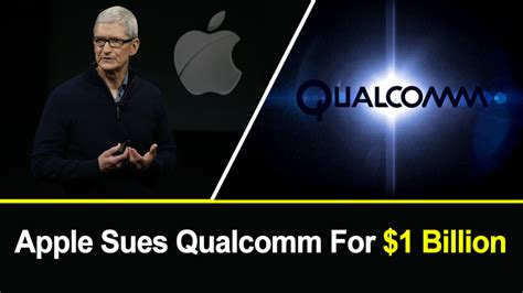 apple sues qualcomm for blackmailing