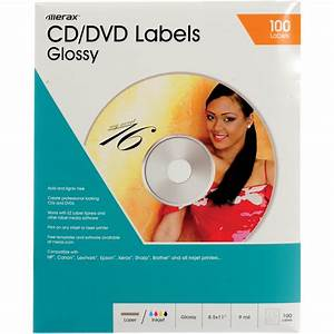 Merit line cd dvd labels glossy pack of 50 176025 bh photo for Labels for cds and dvds