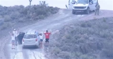 Footage of family 'held at gunpoint for entering Area 51 ...