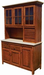Amish Kitchen Hoosier Cabinet Hutch Baking Pantry Solid