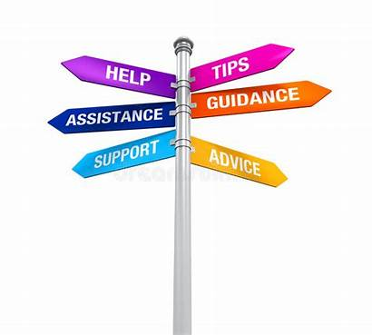 Guidance Support Help Advice Assistance Sign Tips