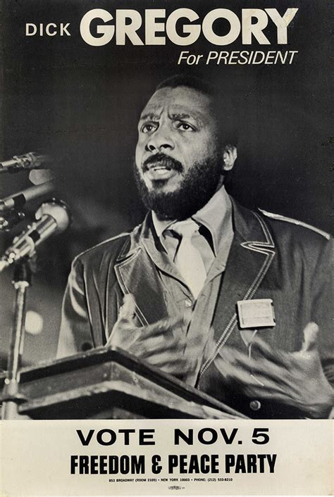 african american history dick gregory  president