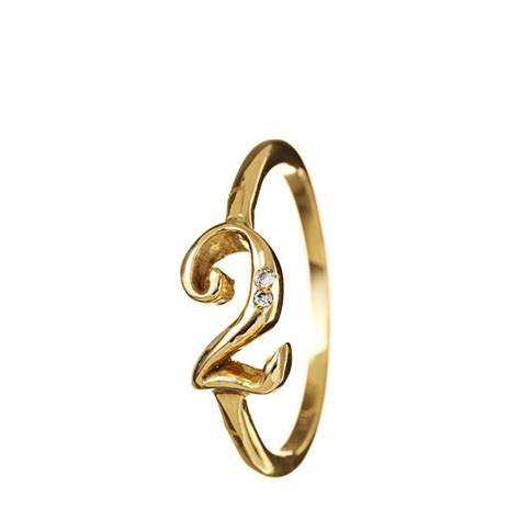 lulu frost code 18k gold number rings with diamonds