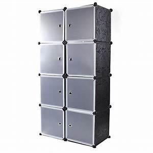 Cd Boxen Kunststoff : steckregal kaufen schrank kunststoff kleiderschrank 35cmx35cmx35cm 8 boxen schwarz ~ Markanthonyermac.com Haus und Dekorationen