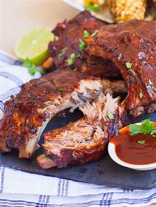 Bbq Pork Ribs With Grilled Corn