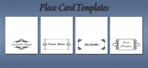 microsoft word place card template   sheet