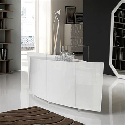 extra clear white curved sideboard   glass shark