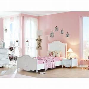 Lit 120 200 : soldes lit pour enfant blanc 120 x 200 cm romantique lit enfant chambre enfant chambre ~ Teatrodelosmanantiales.com Idées de Décoration