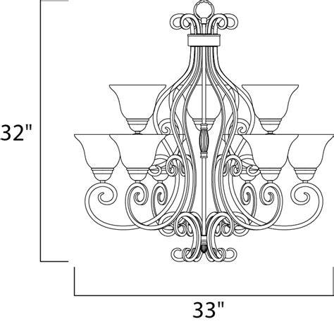Wiring A Chandelier Diagram by Manor 9 Light Chandelier Chandelier Maxim Lighting