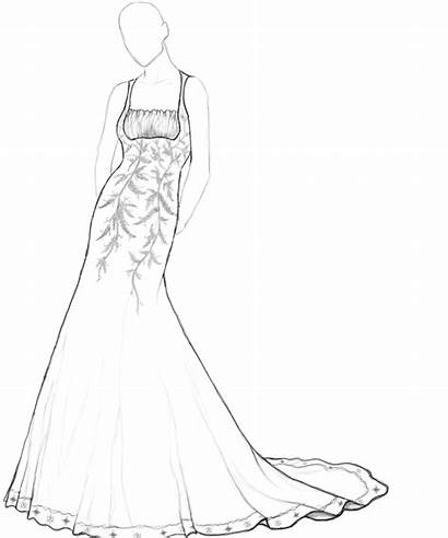 Coloring Pages Dresses Barbie Adults Dressed Getting