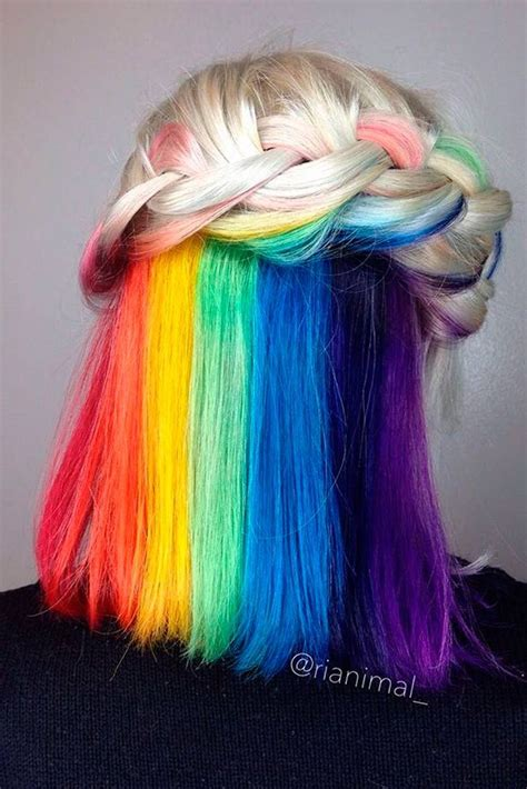 18 Mesmerizing Hidden Rainbow Hair Haiirr Dyed Hair