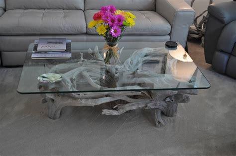 table basse bois flotte design table basse bois flott 233 l accrocheur nature dans le salon