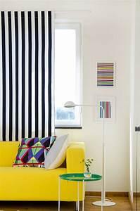 Vorhang Schwarz Weiß Gestreift : 38 ideen f r gardinen und vorh nge wohnlichkeit zu hause ~ Watch28wear.com Haus und Dekorationen