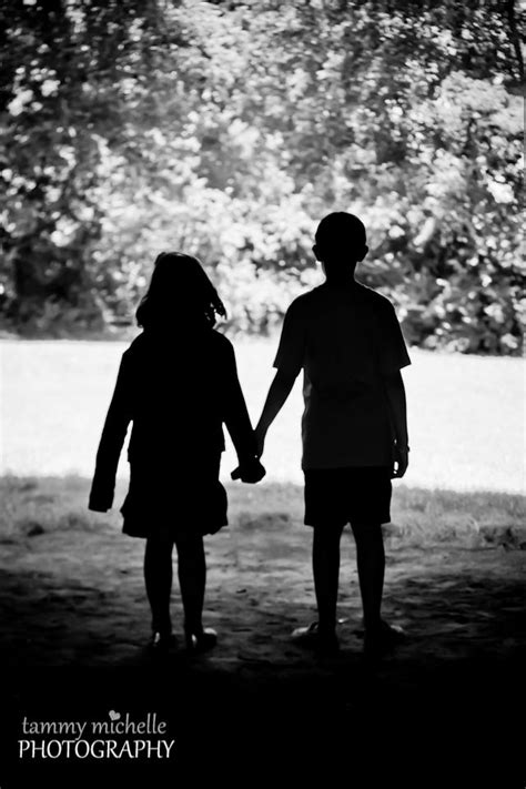 Brother and Sister Silhouette Photo | Tammy Michelle Photography Hendersonville,TN | Photography