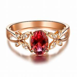 Butterfly RING VVS Red Tourmaline ring Gemstone engagement ...