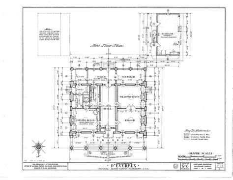 antebellum house plans d 39 evereux an antebellum mansion house blueprints ebay