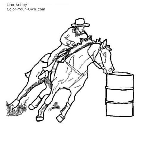 barrel racing clipart clipart suggest