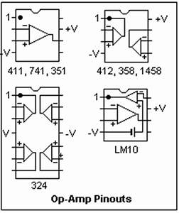 operational amplifiers dc circuit diagram world With op amp pin diagram