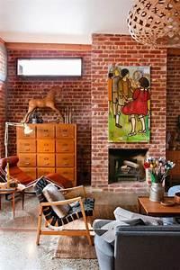 Rouge Brique Avec Quelle Couleur : la brique rouge l ment d co principal du loft contemporain ~ Melissatoandfro.com Idées de Décoration