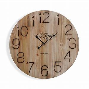 Horloge Murale Bois : horloge murale en bois brown diam tre 58 cm yesdeko com ~ Teatrodelosmanantiales.com Idées de Décoration