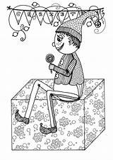 Coloring Elf Holly Christmas Jolly Pages Adults Printables Hard Allfreechristmascrafts sketch template