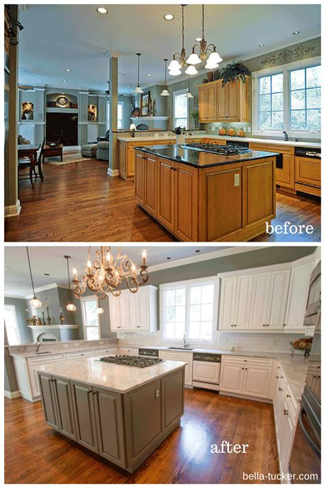kitchen cabinet painted enchanting painted kitchen cabinets before and after white 2657