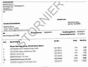 Stornierung Rechnung : tolle kundenbetreuung beim ikea online shop mit blick in den odenwald ~ Themetempest.com Abrechnung